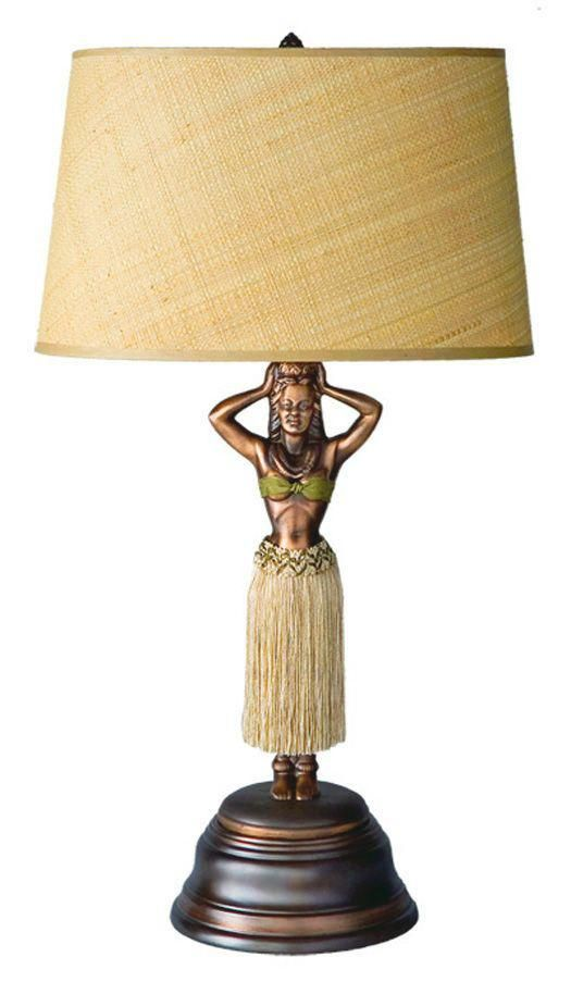 The Hula Lamp Originally Created During The 1930s Invokes The Style And Flavor Of The Tropical Islands Before The Rise Of Mass Tour Girls Lamp Hula Girl Lamp