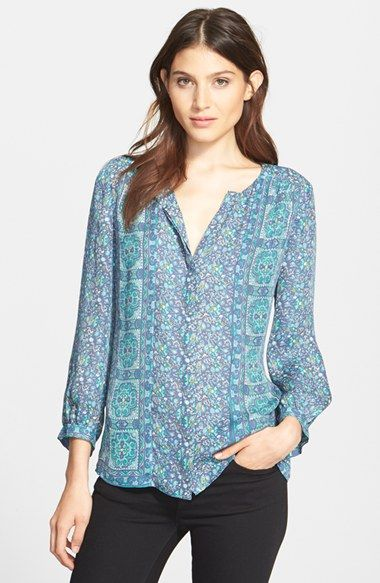 Joie 'Pazima' Print Silk Top available at #Nordstrom