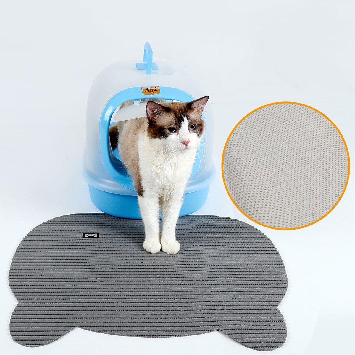 UHeng Pet Cat Litter Mat Waterproof Food Trapping Rugs