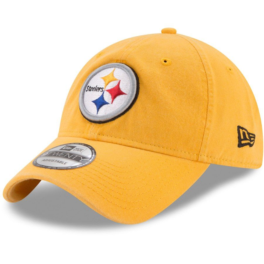 42721e6c168 Pittsburgh Steelers New Era Core Classic Secondary 9TWENTY Adjustable Hat -  Gold