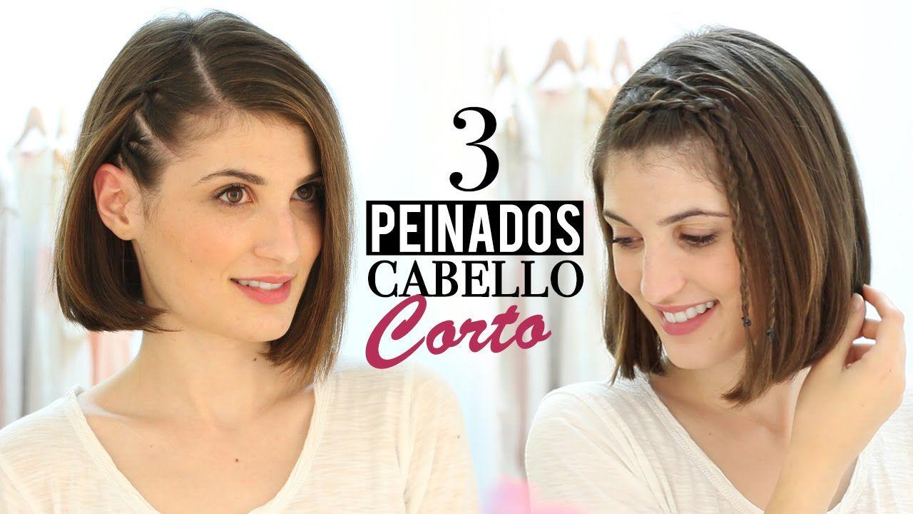 peinados fáciles para cabello corto vídeos de peinados