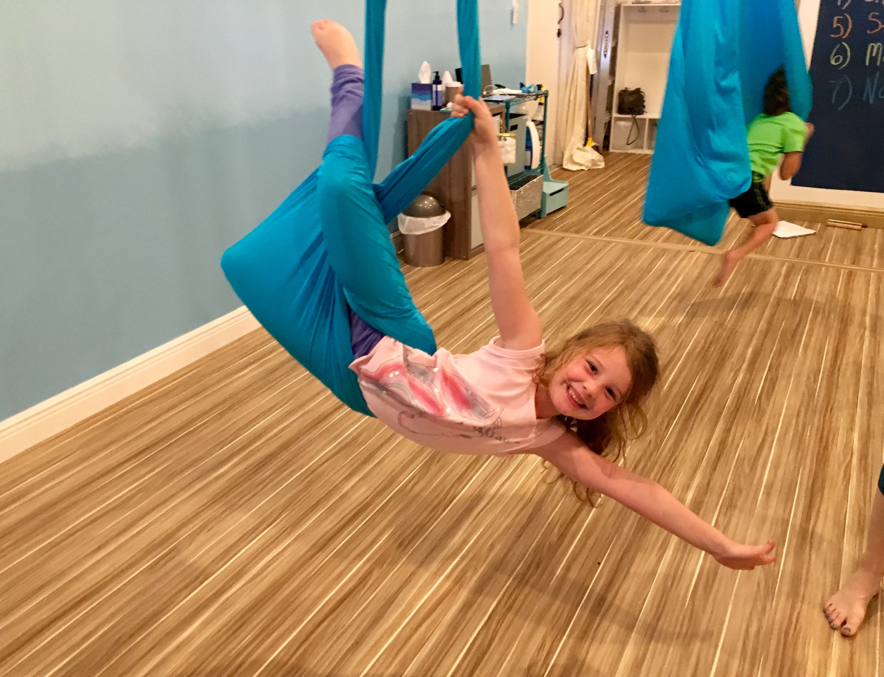 Aerial yoga hammock for kids Sensory Swing functional furniture