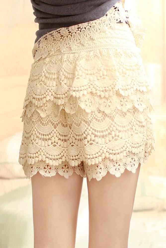 Image of Sweet Lace Cake Mini Skirts $25