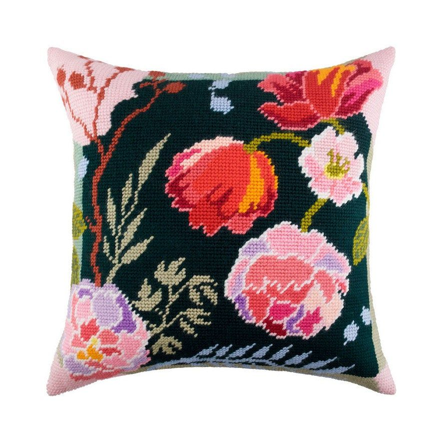 NeedlepointTapestry Pillow Cover DIY