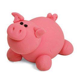 th mes modelage animaux de la ferme le garage de polym re les trois petits cochons. Black Bedroom Furniture Sets. Home Design Ideas