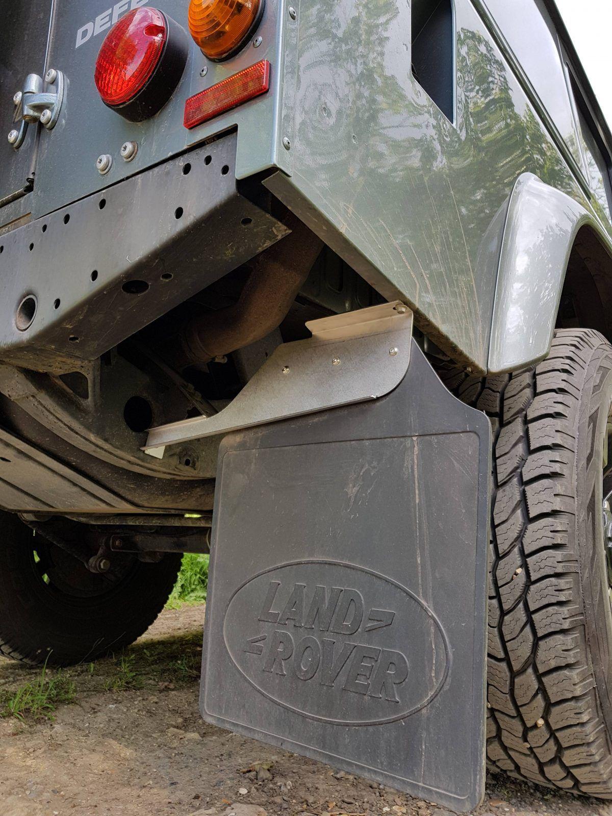 Far Defender 110 Stainless Steel Rear Mudflap Brackets