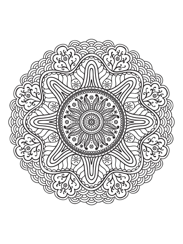 Mindfulness Mandalas Nº3 | Mandalas, Mandala and Mandala coloring