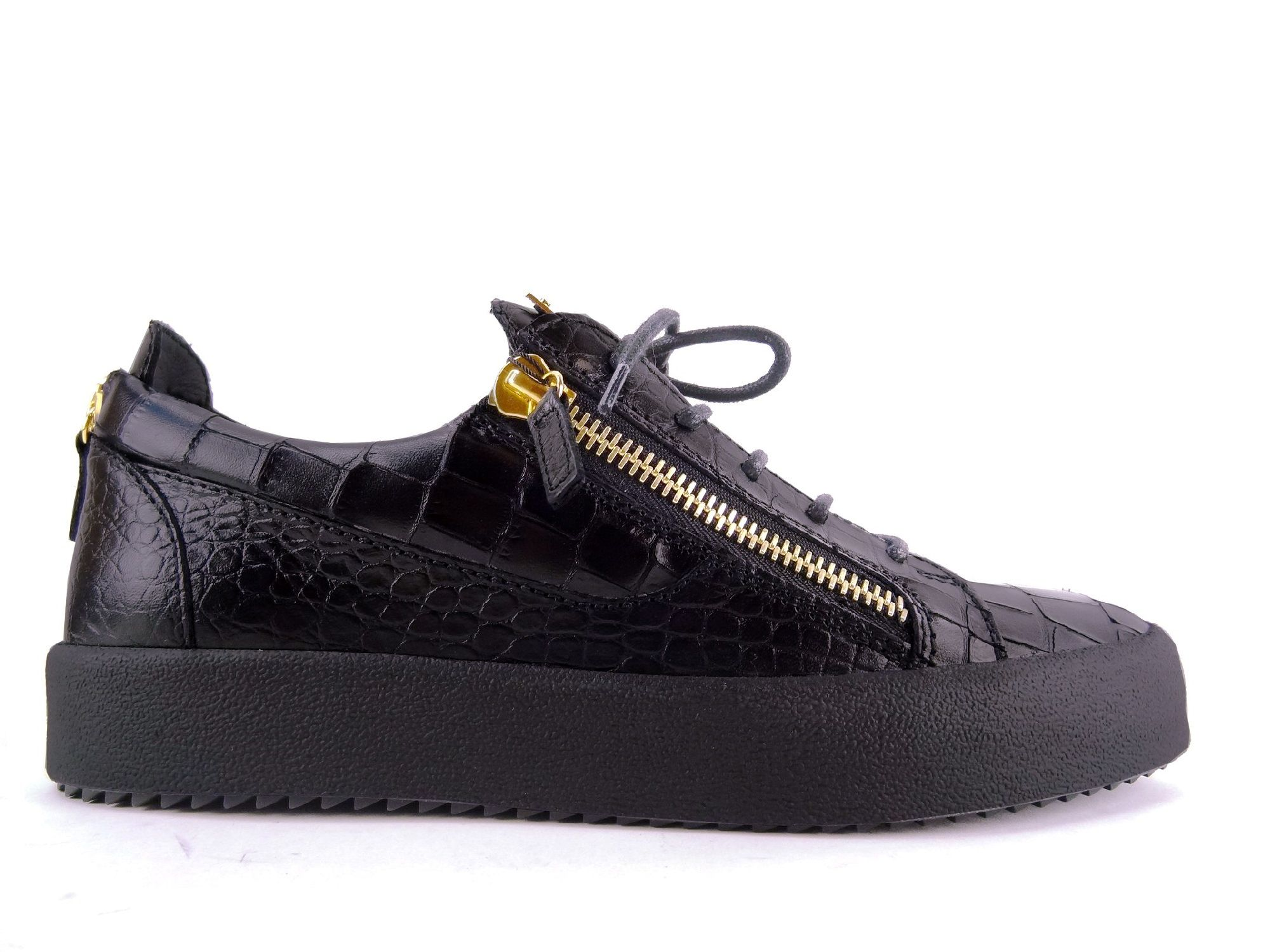 Sneakers Giuseppe Zanotti - Za May London H1 en cuir imprimé croco noir