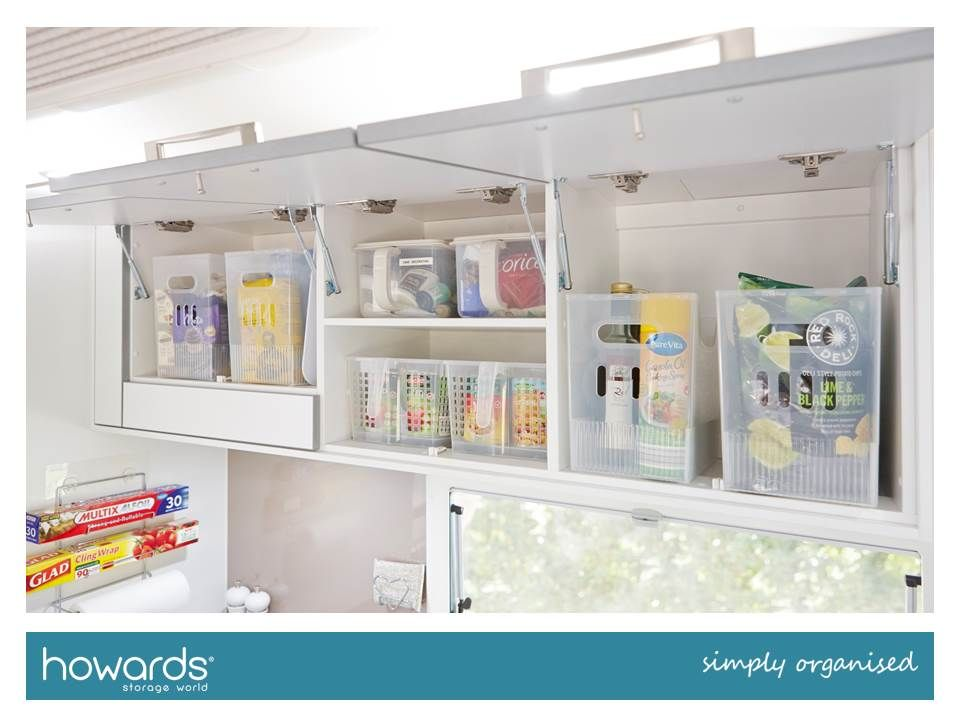These Howards Mimi And Aamina Organisers Were Perfect For Overhead Cupboards In The Kitchen They Fitted We Caravan Storage Caravan Interior Motorhome Interior