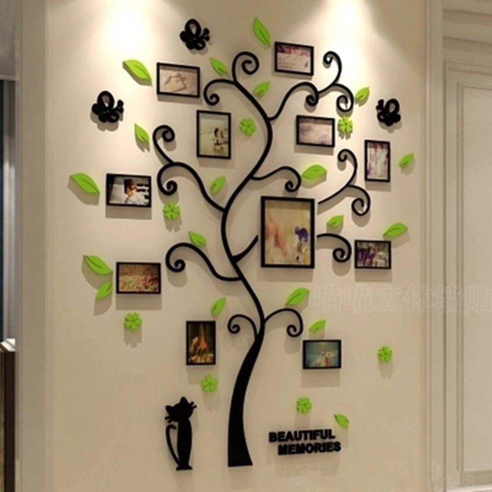 Family Tree Wall Decals 3D DIY Photo Frame Room Wall Stickers Mural Home Decor