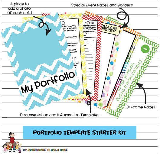 Kind Portfolio Vorlagen Starter Kit After School Care