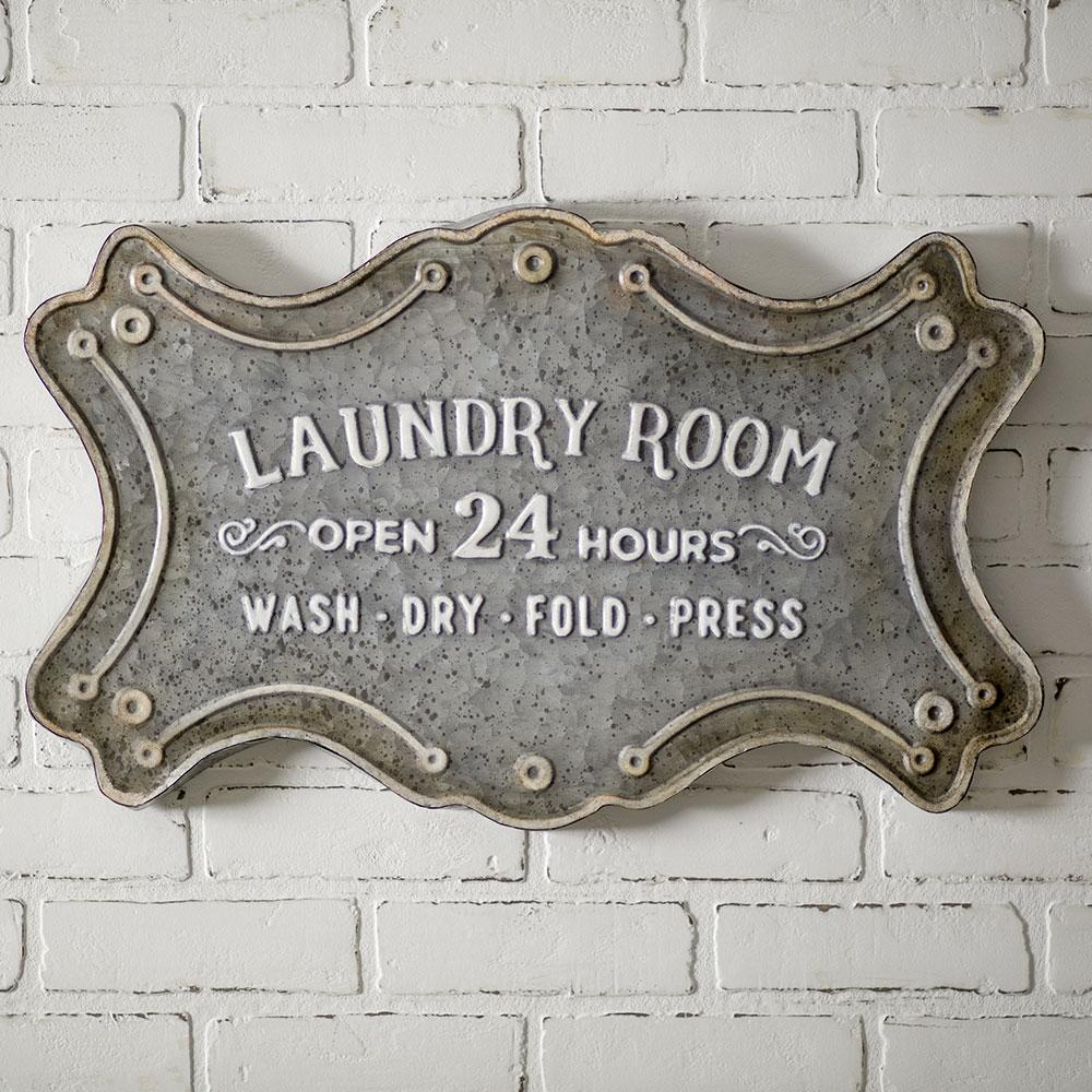 Vintage Metal Laundry Room Sign Farmhouse Fresh Home Vintage Laundry Room Rustic Laundry Rooms Laundry Room Signs