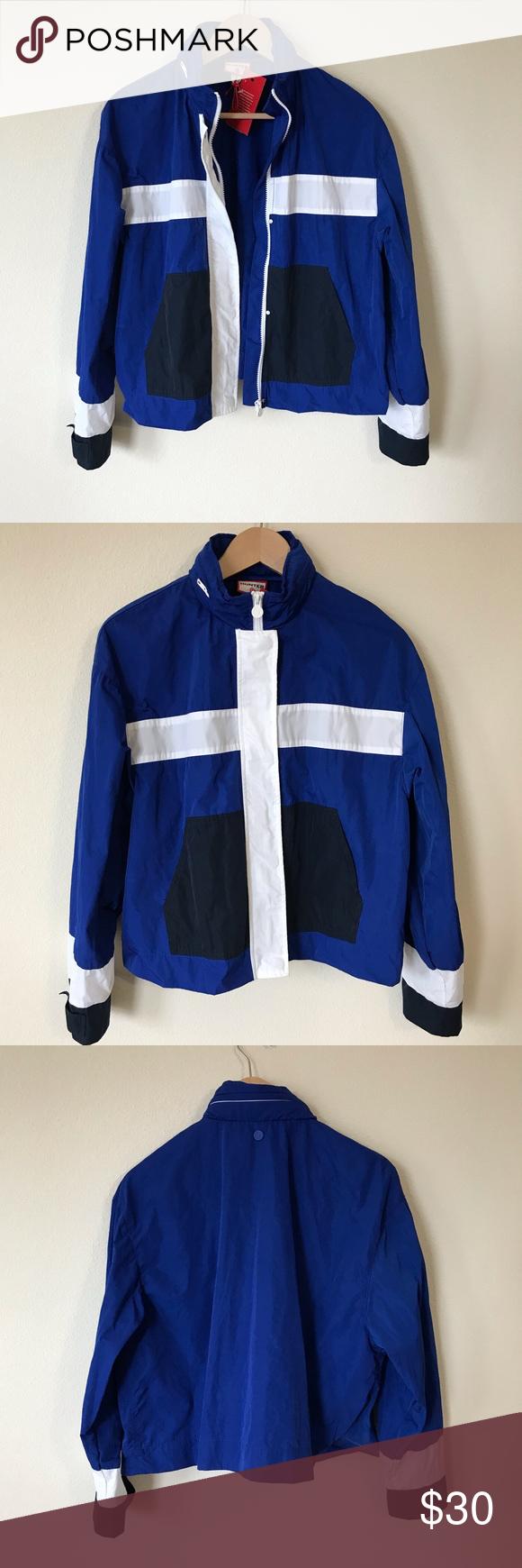 32e3f693c Hunter for Target windbreaker crop jacket NWT Hunter for Target blue ...