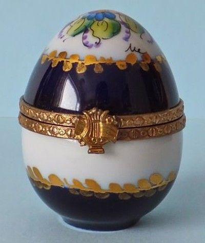 Dubarry Limoges Trinket Box Holding Glass Perfume Bottle (11/04/2012)