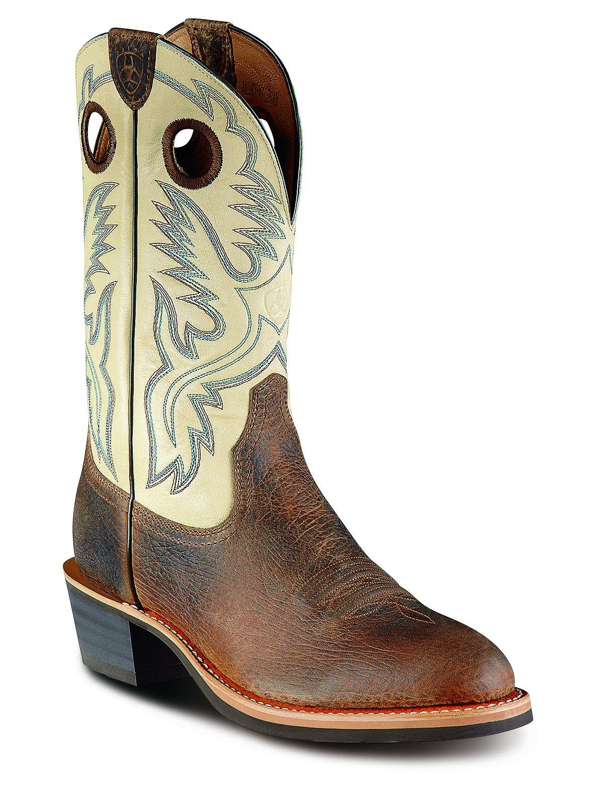 6df7fbfbf3e Mens Ariat Cream Roughstock Boots 10007992 - Texas Boot Company is ...