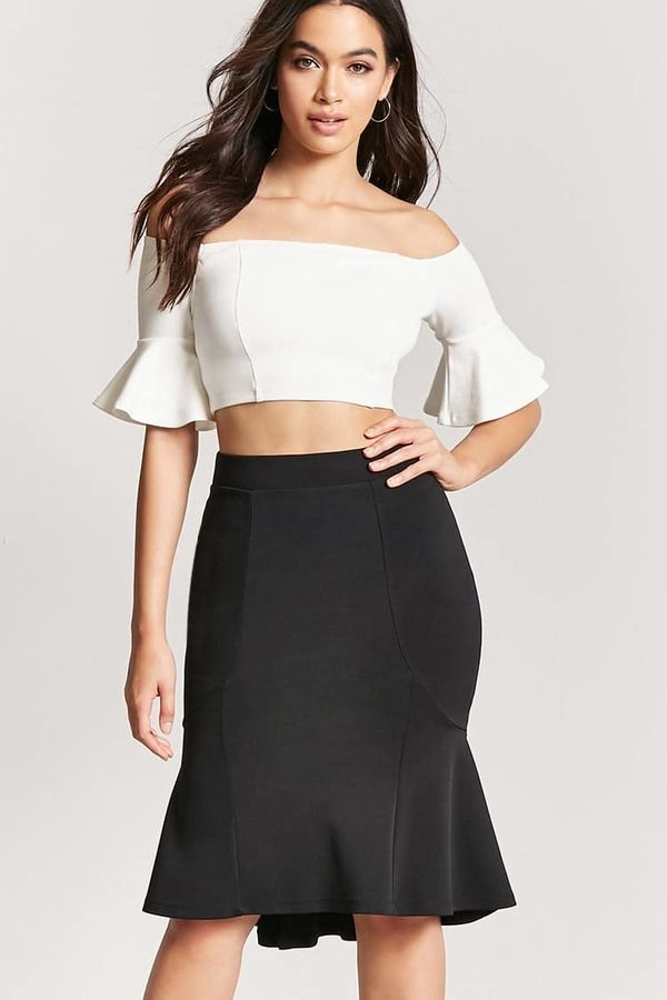 0ce31c2b6c Forever 21 High-Low Flounce Mermaid Skirt | Products | High waisted ...