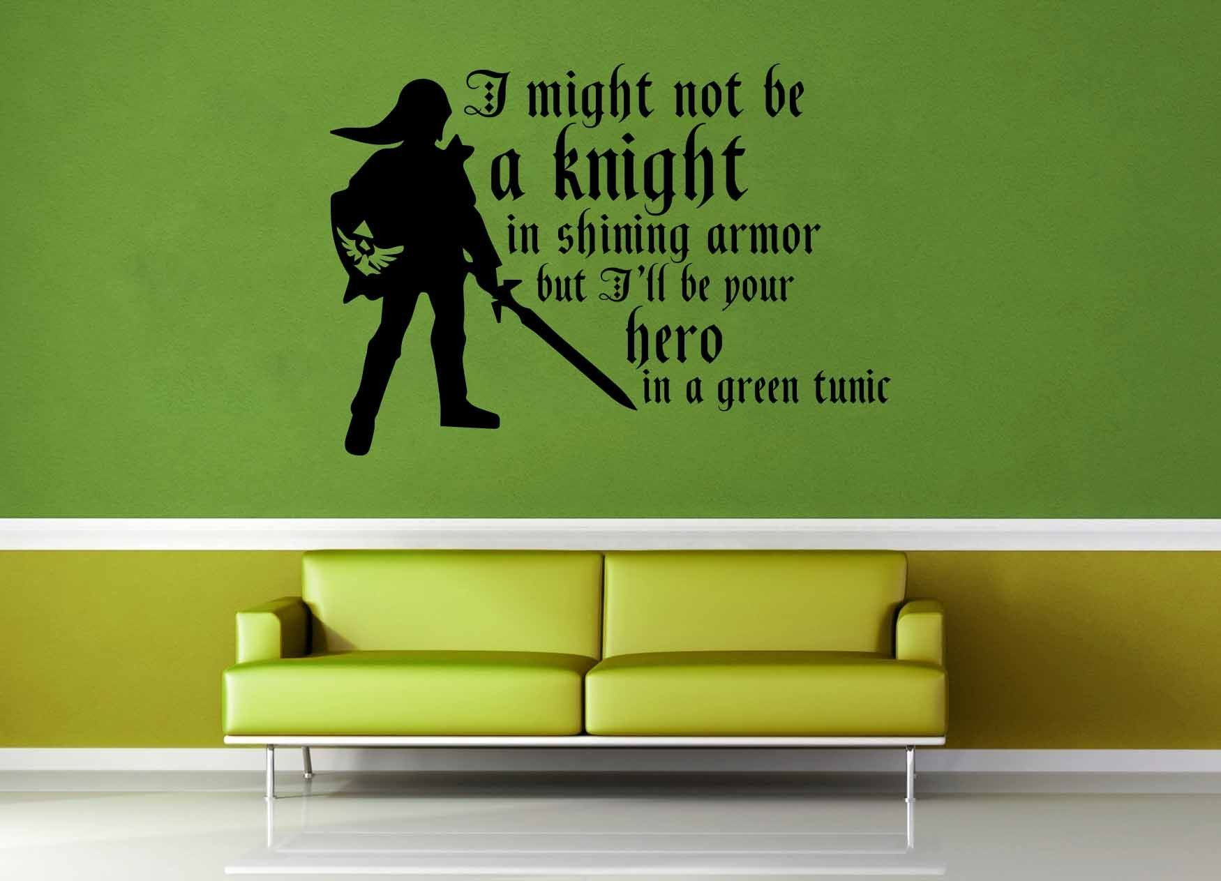 Zelda Quotes Hero In Green  Legend Of Zelda Quote  Wall Decal  Zelda Quotes