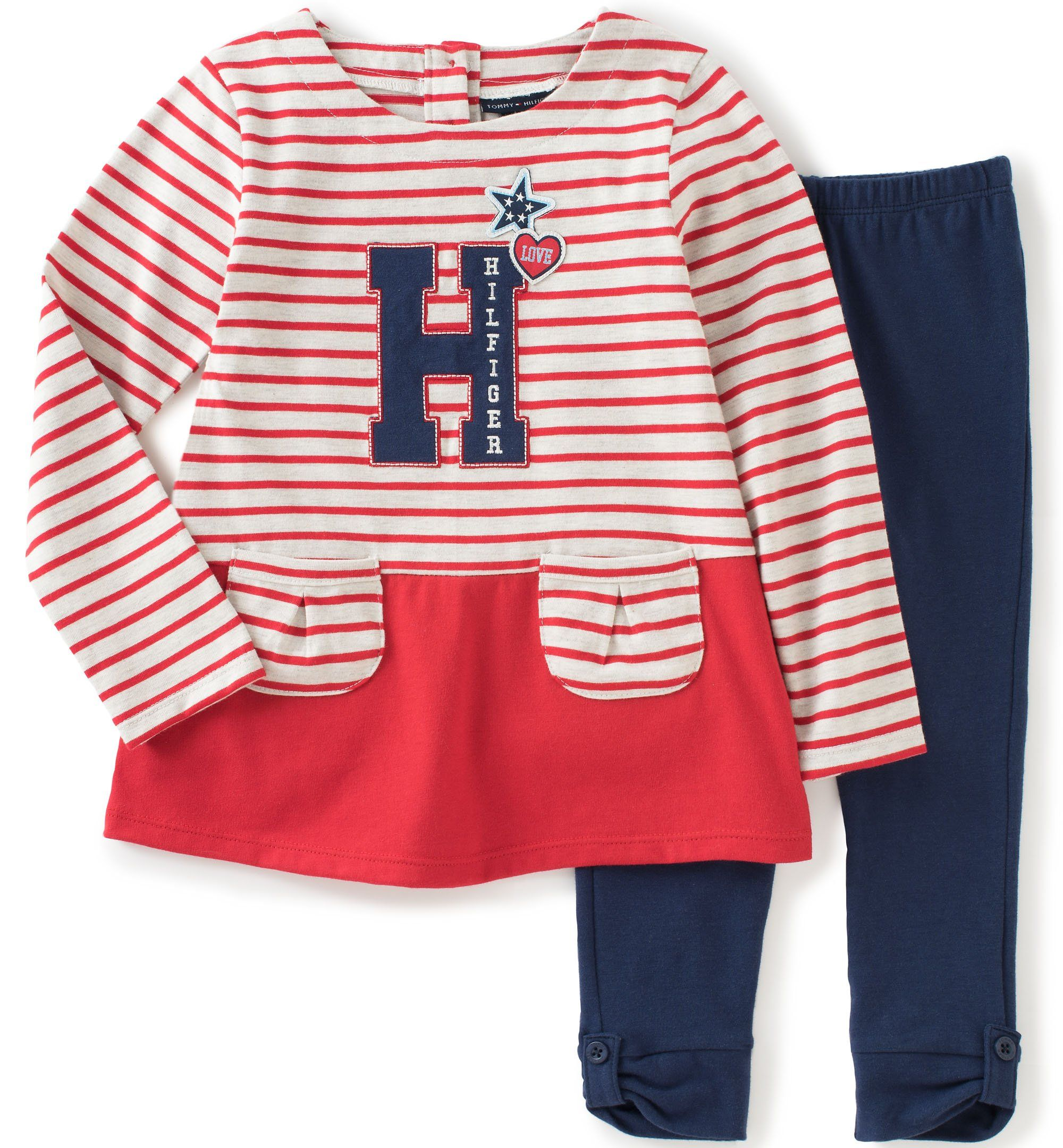 Tommy Hilfiger Little Girls Toddler Yarn Dyed Jersey Tunic with