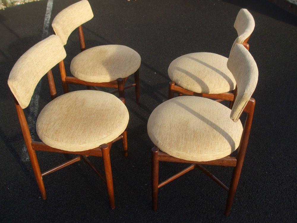 Set of four (4) vintage G-Plan Fresco teak chairs, all original, Danish design  | eBay