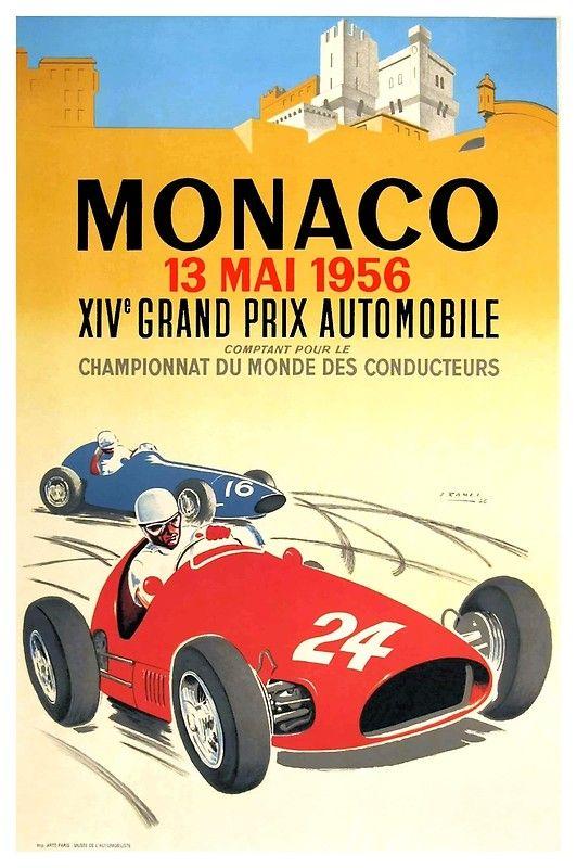1958 Formula 1 Portugal Porto Car Race Grand Prix Vintage Poster Repro Free S H