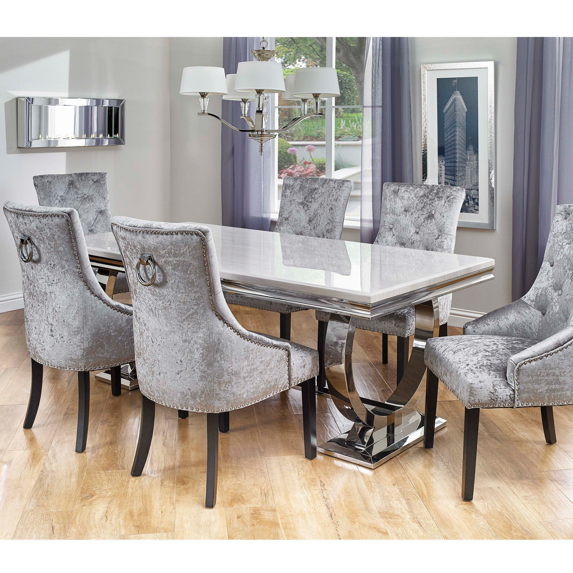 Room Fine Dining Table And 6 Chairs