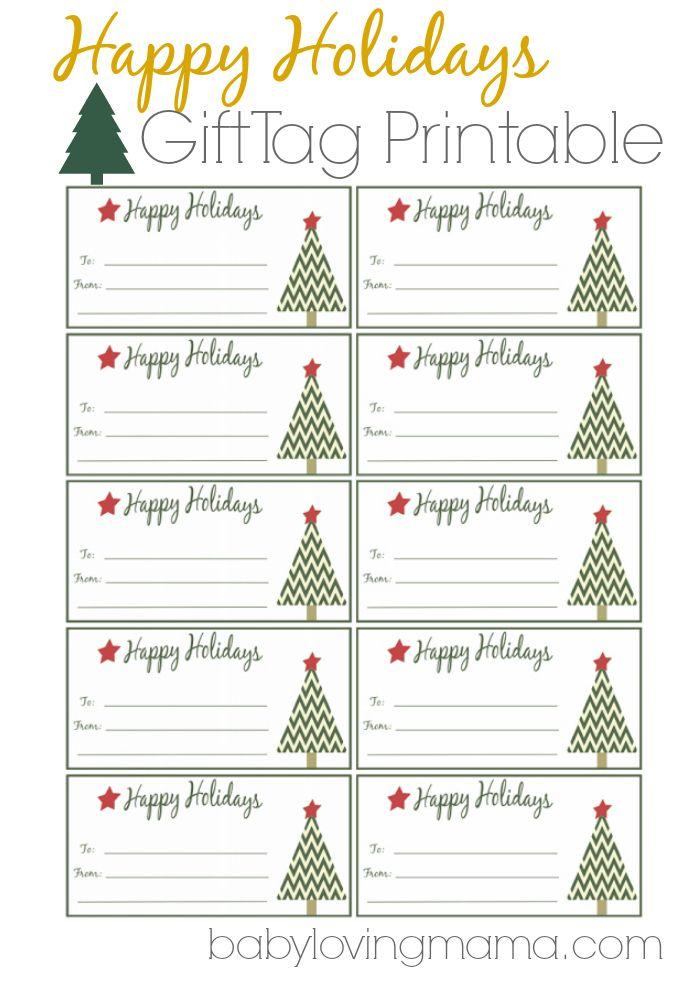 Happy Holidays Gift Tags Free Printable  Gift Tags Printable