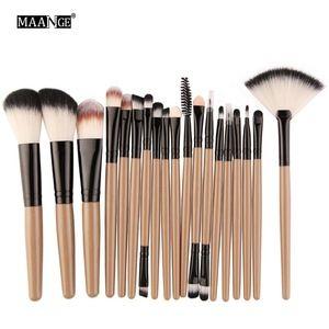 Photo of Pincel Maquiagem  MAANGE 18 pcs private label makeup brush set custom logo makeup brushes