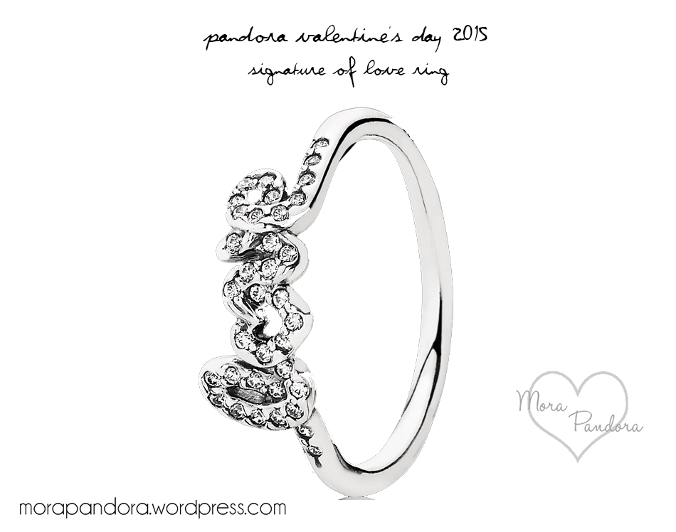 pandora signature of love - Pandora Valentines Day Ring