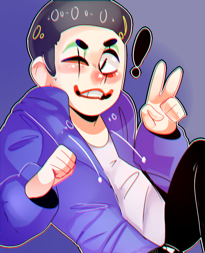 heyyyy I made my fav youtuber Vanoss H20 Delirious Fan Art