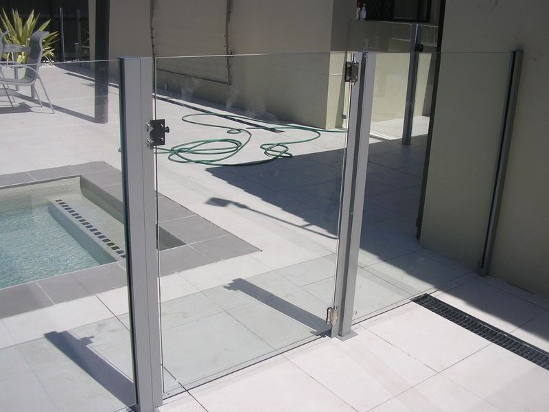 Glass Gate With Square Posts Pool Fencing Gold Coast Next Generation Fencin Fencing Gates Pool Fence Glass Pool Fencing