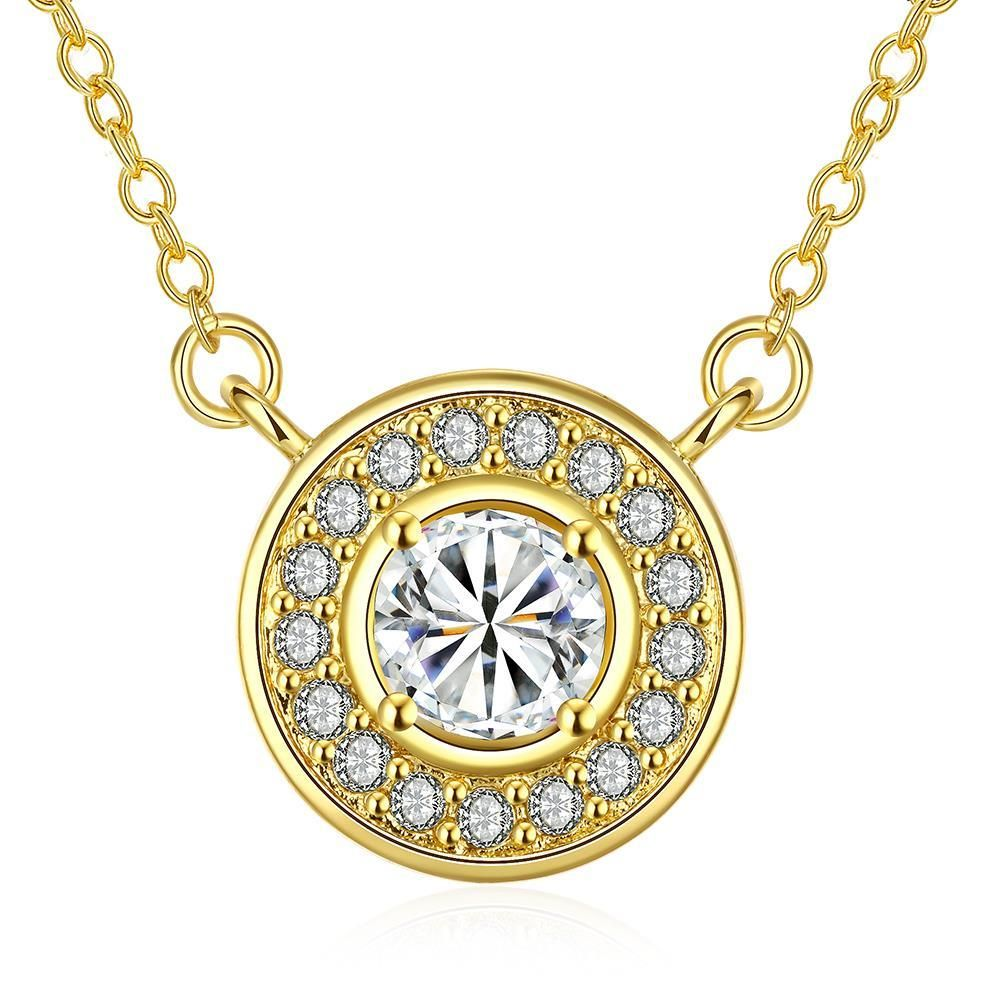 Plated Circular Crystal * Pendant Necklace, Women's