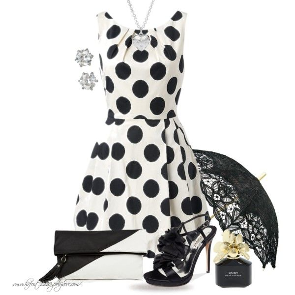 * DOTS & FLOWERS *, created by hrfost1210 on Polyvore