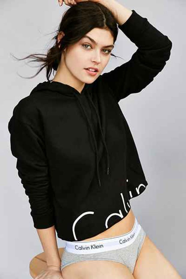 Calvin Klein For UO Modern Cropped Hoodie from Urban
