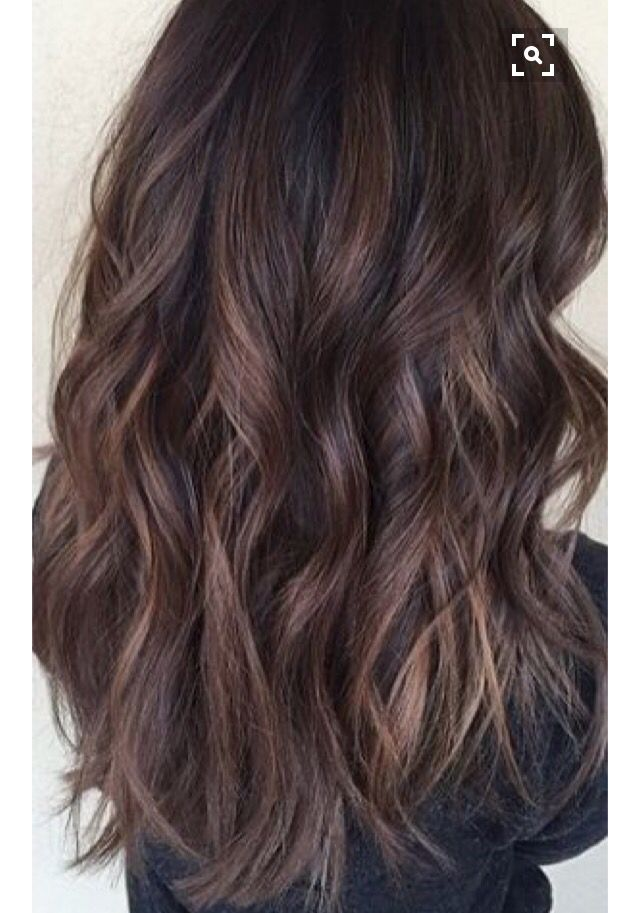 Brown Hair Lowlights Hairstyles Curly Wavy Beachy Curls Hair Styles Balayage Brunette Balayage Hair