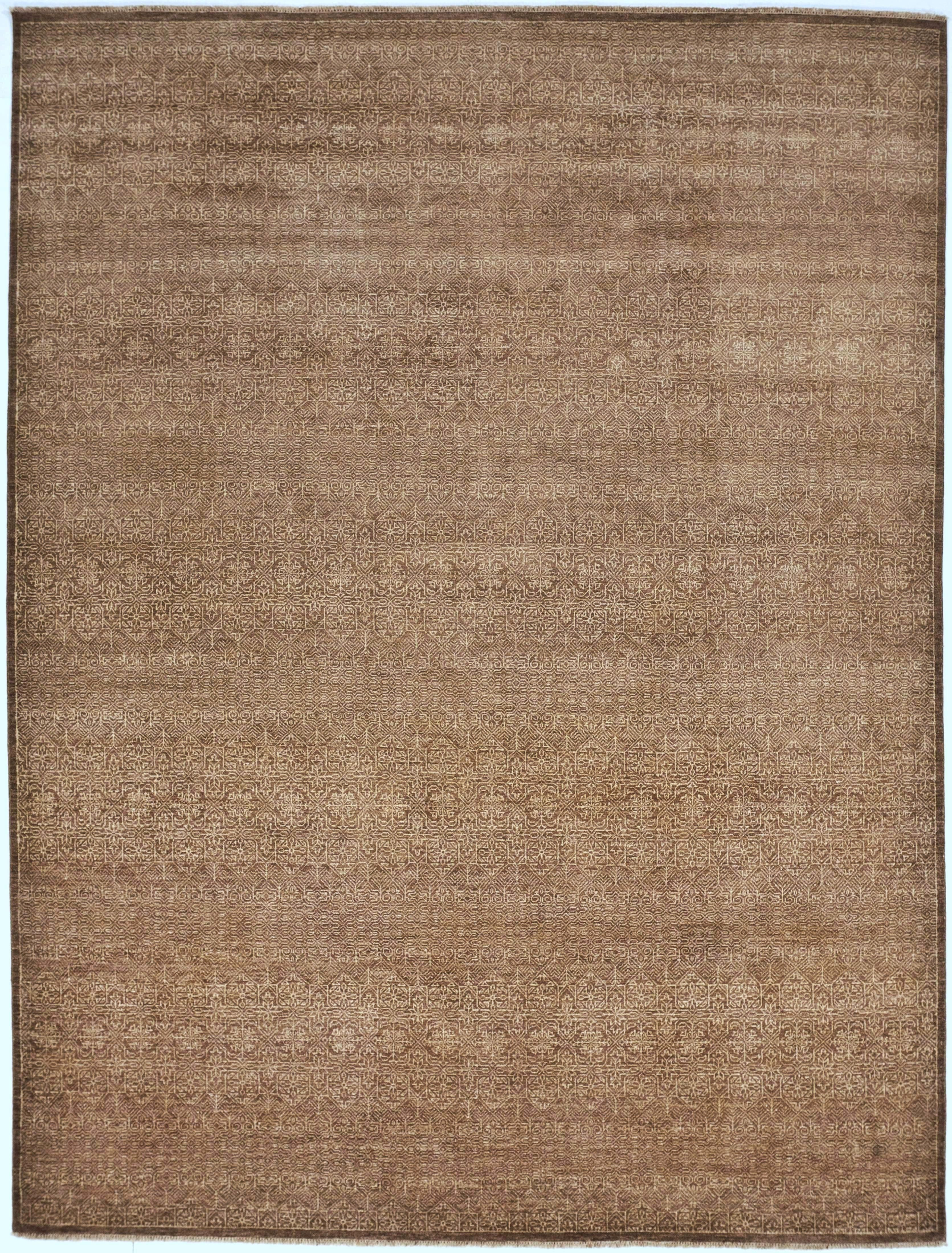 Hand Knotted Indian Rug 9 2 X 12