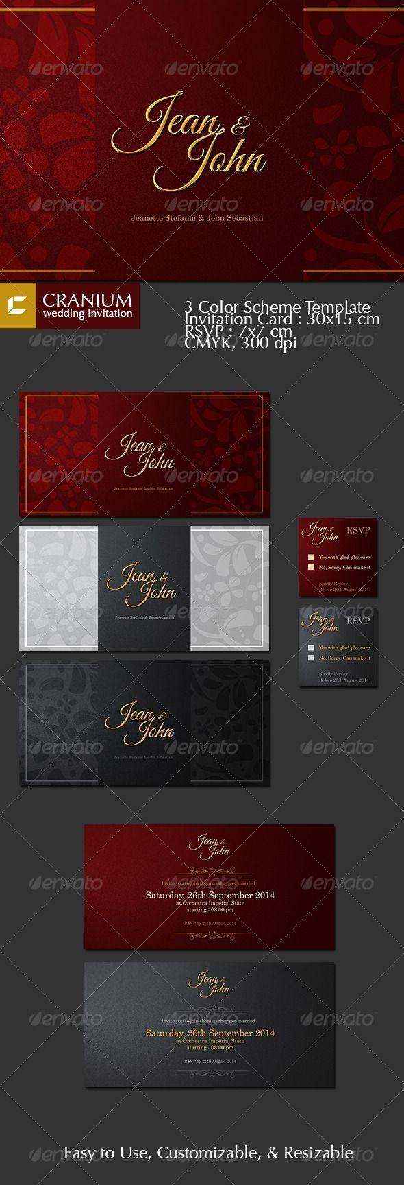 Wedding Invitation Template & Design #Invitation #WeddingCard ...