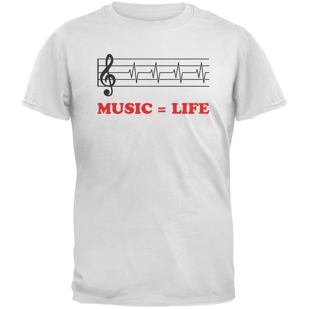 Musicudlife treble clef white adult tshirt shirts products and