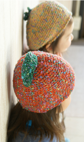 Apple hat and baret, free patterns from Gosyo. In Japanese ...