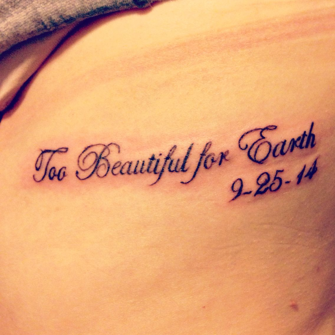 Tattoo Quotes For Unborn Baby: Miscarriage Tattoo Idea