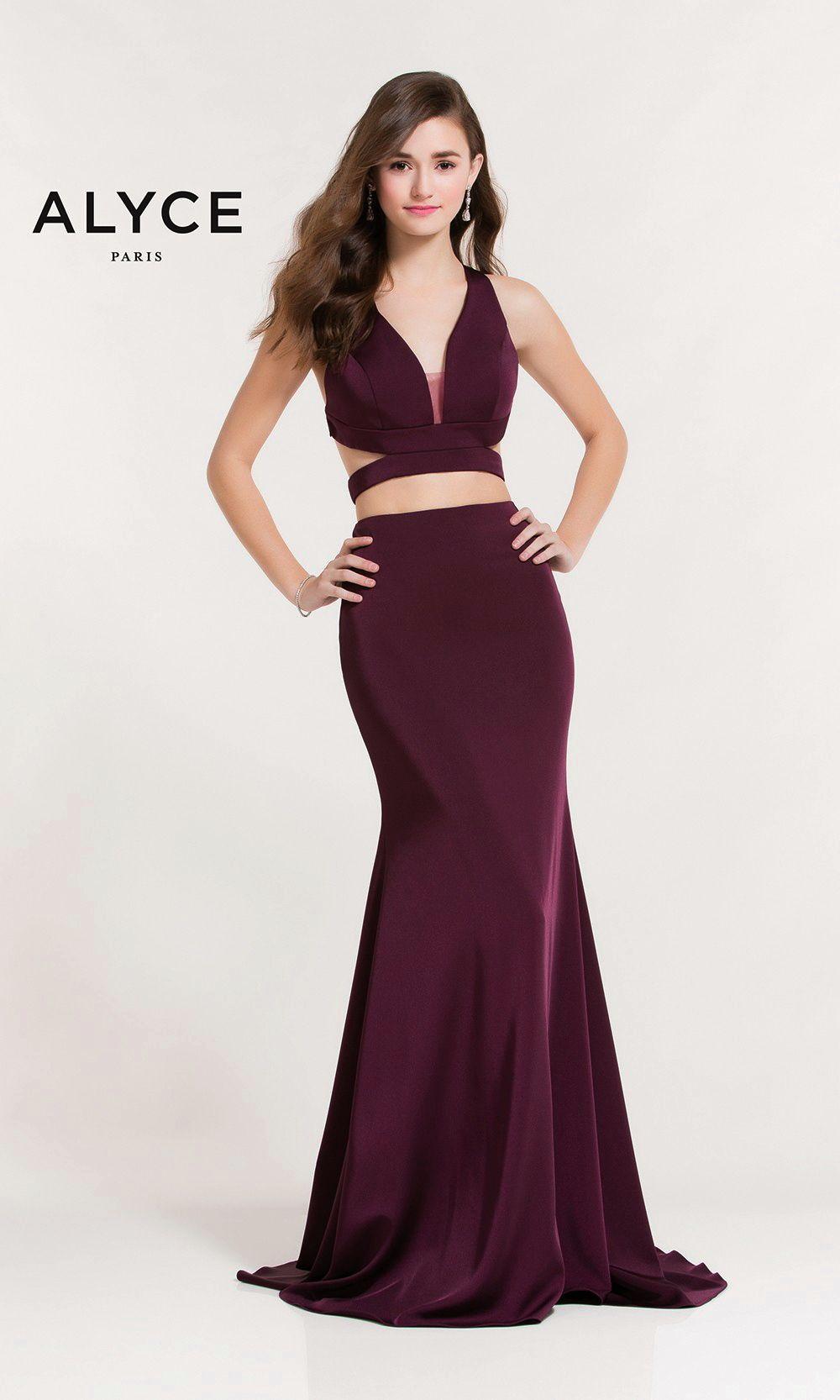 Evening dresses prom dresses by alyce parisucbrueaayucbruetwopiece