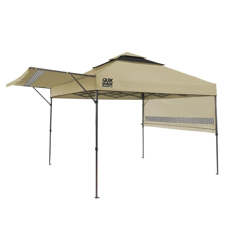 Quik Shade Summit 10 Ft X 17 Ft Instant Canopy In Taupe 157416ds In 2020 Canopy Tent Instant Canopy Pop Up Canopy Tent
