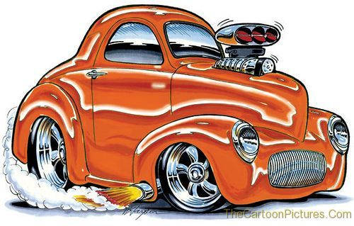 cartoon muscle cars good things happen when im feeling negative and bad
