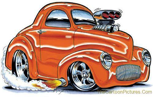 Cartoon Muscle Cars Good Things Happen When Im Feeling Negative - Cool car cartoon