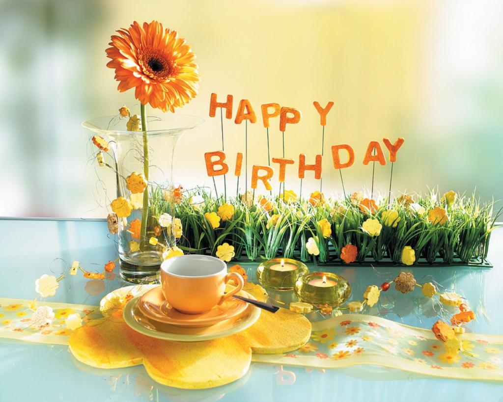 Happy Birthday Flowers Images Birthday Wishes Pinterest