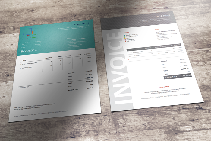 04 Corporate Invoice Templates Business Documents Pinterest