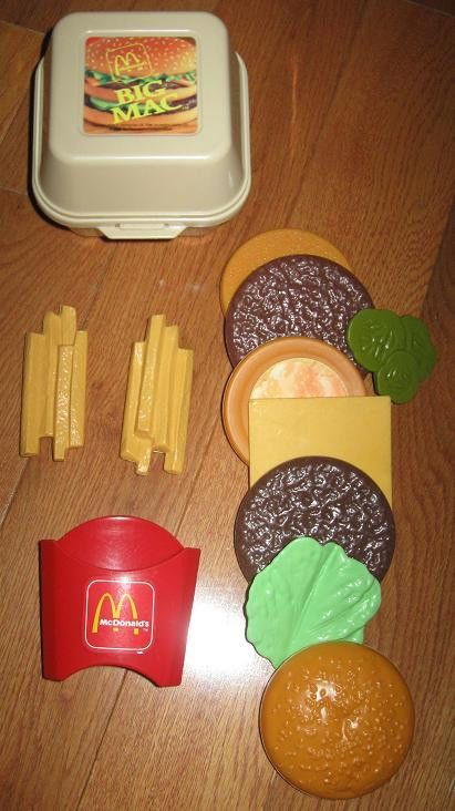 Fisher Price Toy Food : Fisher price vintage fun with food mcdonald s big mac