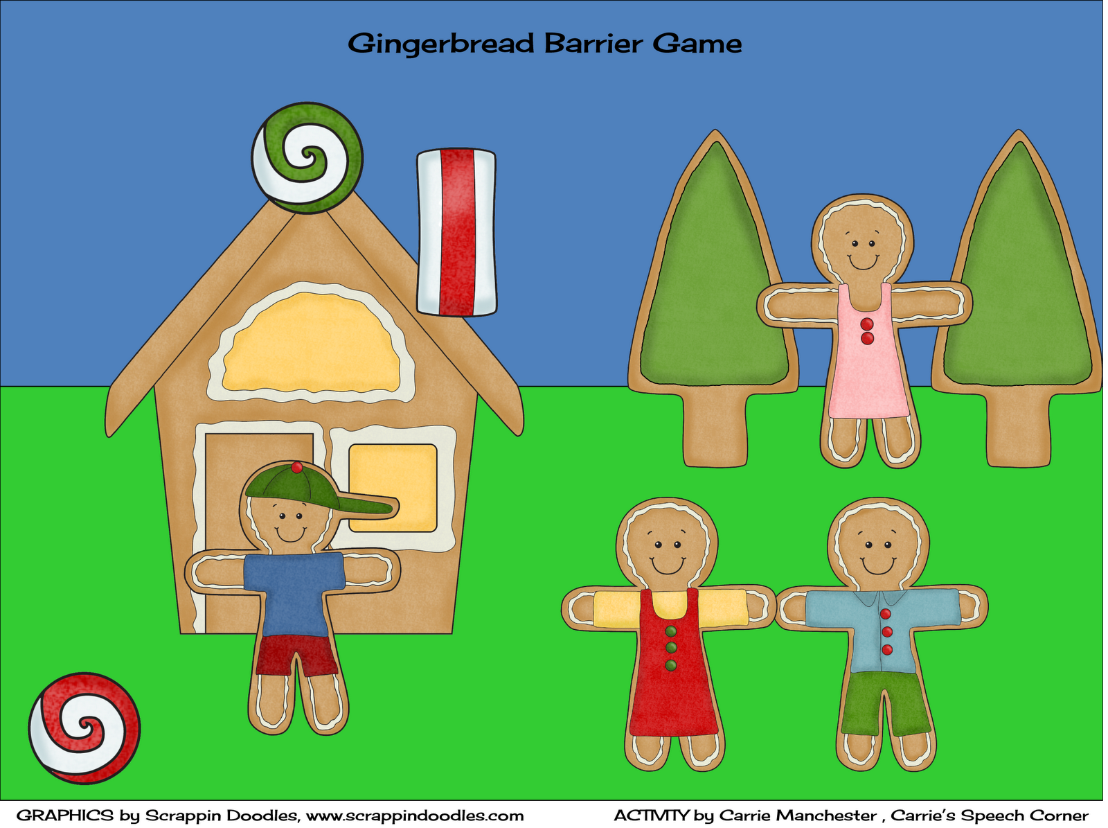 Carrie S Speech Corner Gingerbread Barrier Game