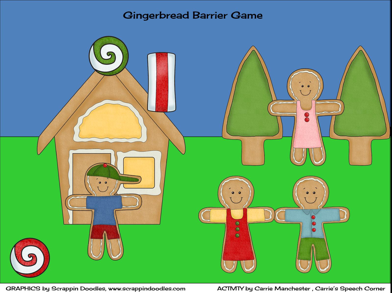 Carrie S Speech Corner Gingerbread Barrier Game