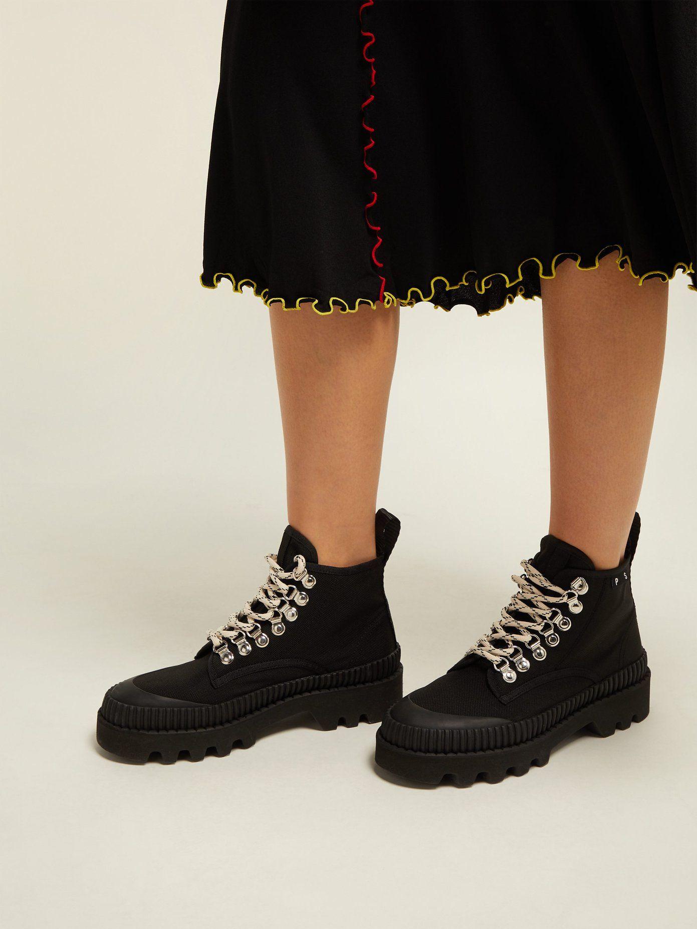 714572f7 Canvas lace-up ankle boots | Proenza Schouler | MATCHESFASHION.COM ...