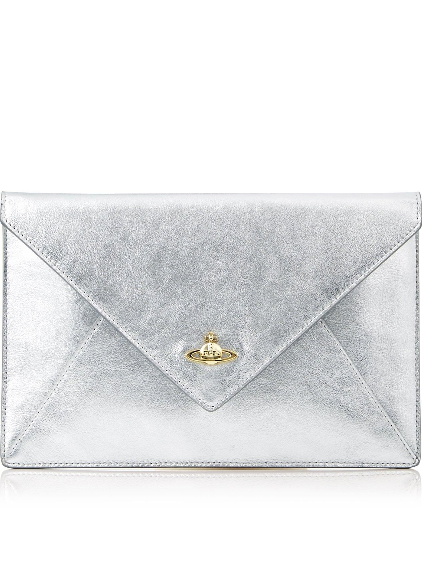 4922182aaff6 VIVIENNE WESTWOOD Private Envelope Clutch - SilverSize  amp  Fit  Dimensions  Height  16cm x